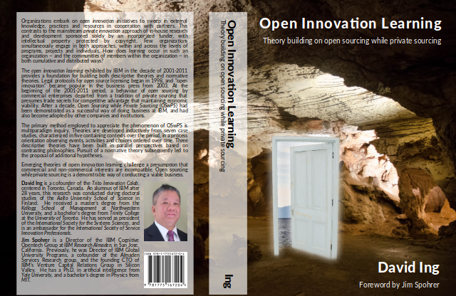 Book cover, 640px PNG, Open Innovation Learning: Theory building on open sourcing while private sourcing